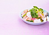 Salad with ham and onion, Sweden.