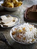 Georgian cuisine – rice with raisins.