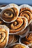Sweden, Stockholm, cinnamon buns, close-up