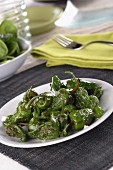 Pimientos de padron (oven-roasted, green peppers)