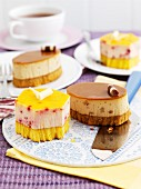 Assorted custard layer cakes