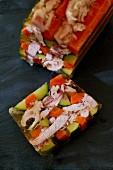 Rabbit terrine with vegetables