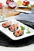 Miesmuschelgericht aus Peru