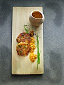 Vegetable burgers with sweetcorn salsa