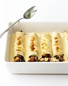 Baked pancake rolls