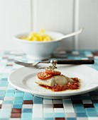 Fish fillet with tomatoes and thyme