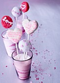 Lemon and nougat cake pops for Valentine's Day
