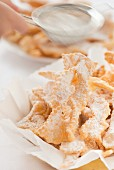 Faworki - traditional polish sweet crisp pastry