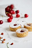 Cherry and almond cakes
