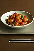 Vegetarian squid with XO sauce