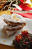 Panforte cakes, traditional Xmas cake, Italy, Europe