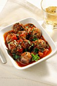 Snails with tomato sauce, Italy