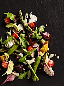 Summer salad with grilled asparagus