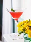 Rhubarb Mint Caprioska