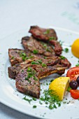 Barbecued chops with herbs