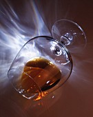Cognac in an overturned glass