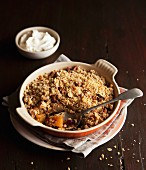 Apricot apple crumble with nuts