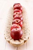 Danziger Kanta apples on a wooden platter