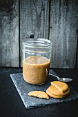 Ginger biscuits and a jar of ready-made coffee