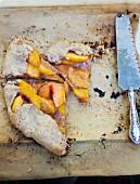 A Cut Peach Galette