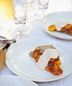 Plates of Peach Galette