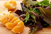 Oranges and Salad Mix