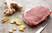 Raw Pork with Ginger