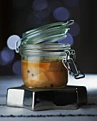 Goose liver preserved in a jar