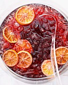 Punch bowl with iced mulled wine