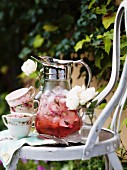 Rose petal punch in vintage jug