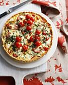 Tomato and pepper tart
