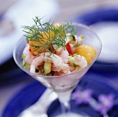 Prawn cocktail with fresh dill