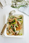 Chicken wings with vegetables