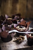 Cupcakes with Chocolate Ganache Filling