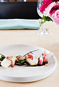 Halibut with Radishes