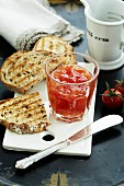 Tomato chutney and grilled bread