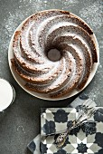 Tea cake with icing sugar