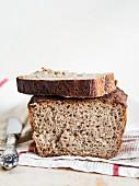 Homemade 100% sourdough rye bread.