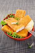 Deep-fried fillets of fish