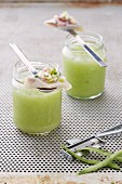 Cucumber smoothie with soused herrings