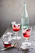 Cherry brandy with ice