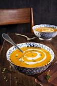 Squash soup with cream