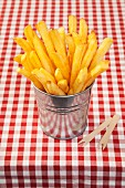 Chips in a metal pot