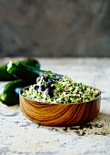 Courgette and almond pesto