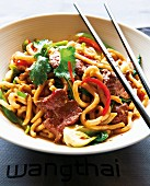 Udon noodles with beef (Asia)