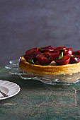 Ricotta Cake with Plums and Basil