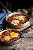Shakshuka (egg dish with tomatoes, North Africa)