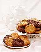 Assorted biscuits with tea