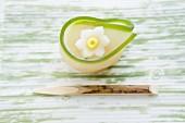 Wagashi narcissus (suisen), a Japanese sweet