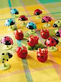 Tomato ladybirds for a children's party